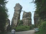 Externsteine in Teutoburg Forest near Detmold